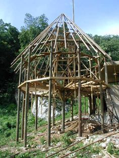 Pole Barns, Pole Barn Homes, Concrete Footings, Roof Beam, Cabana, Beams, Gazebo, Construction, Houses