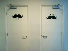 Toilet for Movember - Awesome idea Toilet Signage, Bathroom Signage, Toilette Design, Wc Icon, Toilet Door, Restroom Design, Public Bathrooms, Signage Design, Environmental Graphics