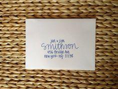 items similar to wedding invitation addressing handwritten envelopes smithson on etsy - Wedding Invitation Addressing