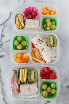 Lunches I pack for my four kids for school every day.