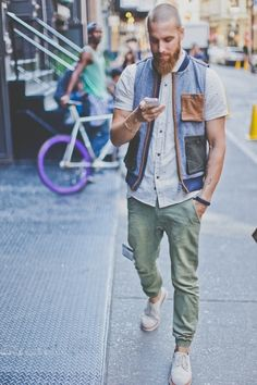 benkb: virile: Dan that vest…that shirt….those pants……..those shoes. this is really perfect.