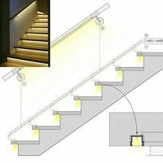 // detalle_ iluminación en bocel de escalera