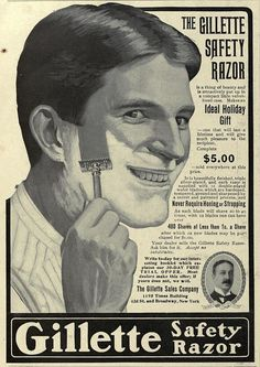 1905 Vintage Advert - Gillette Safety Razor | Flickr - Photo Sharing!