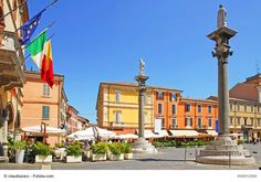 Piazza del Popolo, Ravenna, Italy - This is the central square in Ravenna and a great place to enjoy Italian atmosphere and food in one of local cafes and restaurants. It is a popular square for tourists along with many wonderful churches and monuments Ravenna has to offer.