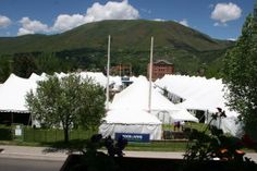 Our view of the Food and Wine Classic in Aspen, held every June across the street from us in Wagner park.
