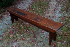 Antique Primitive Farm or Cottage Bench for the Porch or Dining Table.