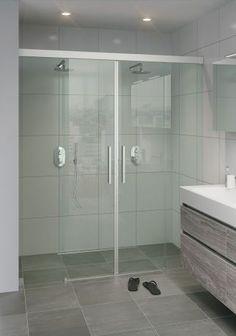 Bruynzeel Zeno schuifdeur dubbel // douche douchecabine badkamer sanitair // bathroom shower enclosure sliding door // salle de bain porte coulissante