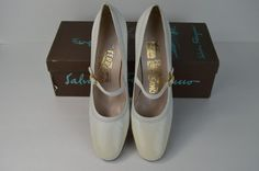 #Ferragamo #Classic #Vintage #White #Leather #Strappy #Heels #Hipster #Pinup #7.5 #AAA#7.5AAA#SalvatoreFerragamo #Heels