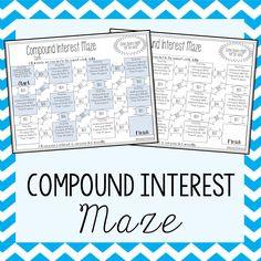 16 Best Simple Compound Interest Images Maze 8th Grade Math