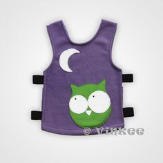 Pöllö violetti M | Vinkee Good And Cheap, Kids Wear, Apron, Projects To Try, Arts And Crafts, Bunny, Vest, Textiles, Handmade