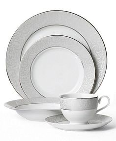 Mikasa Dinnerware, Parchment Collection - Fine China - Dining & Entertaining - Macy's Bridal and Wedding Registry