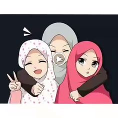 Motivasi Hidup Kartun Hijaber Muslimah Foto Cartoon, Cartoon Kunst, Girl Cartoon, Cartoon Art, Friend Cartoon, Friend Anime, Picture Instagram, Cover Wattpad, Hijab Drawing