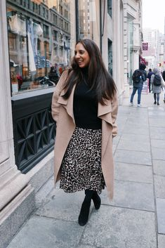 How To Style A Leopard Print Skirt For Work In The Winter 6b50451b6