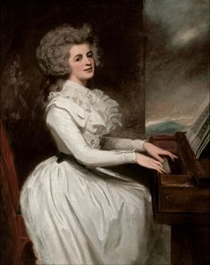 ♪ The Musical Arts ♪ music musician paintings - George Romney | Charlotte, Mrs Thomas Raikes, 1787