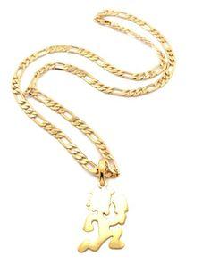 Micro hatchetman pendant 3mm 24 rope chain necklace in gold tone micro hatchetman pendant 3mm 24 rope chain necklace in gold tone hatchetman pendant pinterest pendants chains and amazon aloadofball Gallery