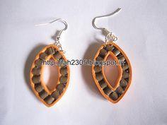 Handmade Jewelry - Paper Quilling Leaf Shape Earrings (1)