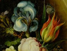 Roeland Savery, FLoral Still Life in a Niche (detail), 1610