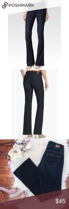 """PAIGE Jeans Boot Cut Dark Wash W28 L29 """" PAIGE """"      Hidden Hills     Boot Cut     Double Button Closure     Retail Price :$199  Size : 25 Waist : 28"""" Inseam : 29""""  Excellent used condition.  Please see the pictures.  Thank you for looking my item. Please check my other items. Paige Jeans Jeans Boot Cut"""
