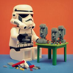 Even Stormtroopers can't resist playing with #LEGO.