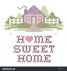 stock-photo-home-sweet-home-embroidery-cross-stitch-pattern-sewing-design-in-pastel-colors-big-red-heart-187833806.jpg (1500×1600)