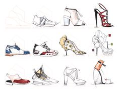 A sketchbook tailor-made for footwear designers. We designed an ultimate shoe template for sketching all styles of shoes, from flats to 6 inch heels, from sneakers to pumps.
