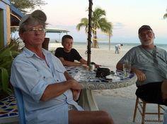 Benjamin (Dink) Bruce, Sam Klitenick, Scott Irwin at Salute Restaurant on Higgs Beach.