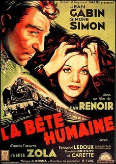 #affiche #film La Bête humaine #jetudielacom