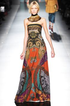 Look 26 from Etro Fall 2009 Ready-to-Wear Fashion Show - Anja Rubik