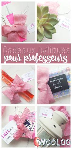 Tu cherches un cadeau de dernière minute pour le professeur de tes enfants? Voici 6 idées ludiques de cadeaux faciles à faire.