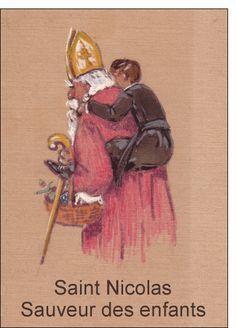 Carte Saint Nicolas Sauveur des enfants pour envoyer par La Poste, sur Merci-Facteur ! #SaintNicolas