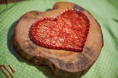 Rustic string art heart with nails - Love gift sign. $35.00, via Etsy.