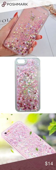 iPhone 7  Liquid Glitter Quick Sand Case ➡️Discount Only With Bundle Of 2 Or More Items⬅️  Show off your iPhone while protecting it from bumps and scratches.  * High Quality Hardshell Case * Gorgeous Pink Glitter with Hearts  * Bump/ Anti Shock  * Fitted Design * New In Package  * Same Or Next Day Shipping Accessories
