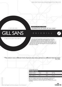 Given the font Gill Sans, I come out with a concept with the inspiration from the London Underground Subway Map. Gill Sans is used for the signages,maps and directories for London Underground. Beautiful typeface designed by Eric Gill. Typography Images, Typography Letters, Graphic Design Typography, Lettering, Poster Fonts, Typography Poster, Lens Logo, Gill Sans, Font Face