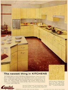 yellow 60's kitchen