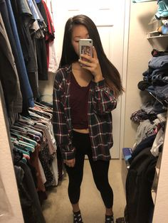 Oversized flannel and leggings