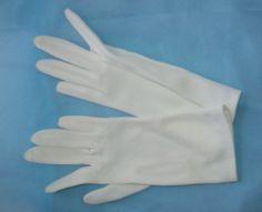 Vintage evening gloves  size A   vintage nylon by NewtoUVintage
