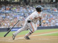 SAN DIEGO, CA - JULY 13: Pablo Sandoval #48 of the San Francisco Giants hits an RBI double during the first inning of a baseball game against the San Diego Padres sat Petco Park on July 13, 2013 in San Diego, California. (Photo by Denis Poroy/Getty Images)