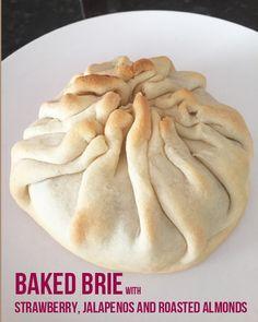 Baked Brie Pastry with Strawberry Jalapeño Honey Jam