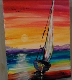 sailboat colorful