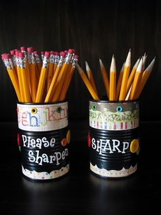 Sharpening and keeping up with pencils can be a problem in the classroom ... this works best for me.