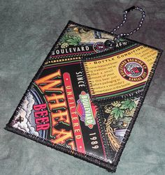 Mini Luggage Tag from Recycled Boulevard Wheat beer labels by squigglechick, $8.00