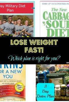 How to lose weight fast!  I've included a few plans I've tried!  Here's a real honest review! #WeightLoss #Diet #MilitaryDiet #Atkins