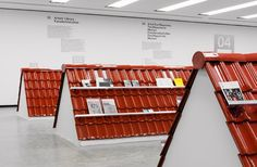 """""""Publishing as an Artistic Toolbox: at Kunsthalle Wien, Vienna Book Cafe, Up Book, Exhibition Display, Retail Space, Retail Design, Visual Merchandising, Tool Box, Room Interior, Architecture"""