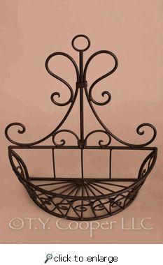 Wrought Iron wall basket