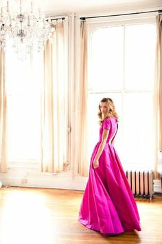 Fuchsia Gown for bridesmaid or sister-of-the-bride