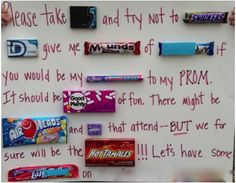 Candy bar prom date invite, so sweet! High School Dance, School Dances, Prom Invites, Invitations, Invitation Au Bal, Dance Proposal, Proposal Ideas, Cute Prom Proposals, Formal Proposals