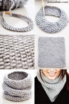 Free knitting pattern for a super simple, easy to knit seed stitch cowl. It uses one skein of yarn, and can be knitted up in one night! I may have to learn how to do that. (point: not crochet, but I only have one yarn-y board) Easy Knitting Patterns, Free Knitting, Crochet Patterns, Knitting Needles, Knitting Ideas, Snood Knitting Pattern, Infinity Scarf Knitting Pattern, Finger Knitting, Scarf Patterns