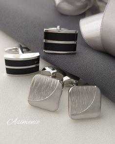 Υπέροχα μανικετόκουμπα για μια προσεγμένη εμφάνιση! Μεταφορικά εντελώς Δωρεάν σε όλη την Ελλάδα! www.asimenio.gr T. 2310 531382 Θεσσαλονίκη Cufflinks, Accessories, Wedding Cufflinks, Jewelry Accessories