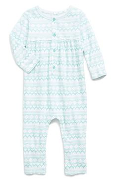 Nordstrom Baby Stripe Cotton Romper (Baby Girls) available at #Nordstrom