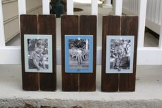 Set of 3 Brown 4 x 6 Distressed Wood Frames Pick your colors on Etsy, $49.00
